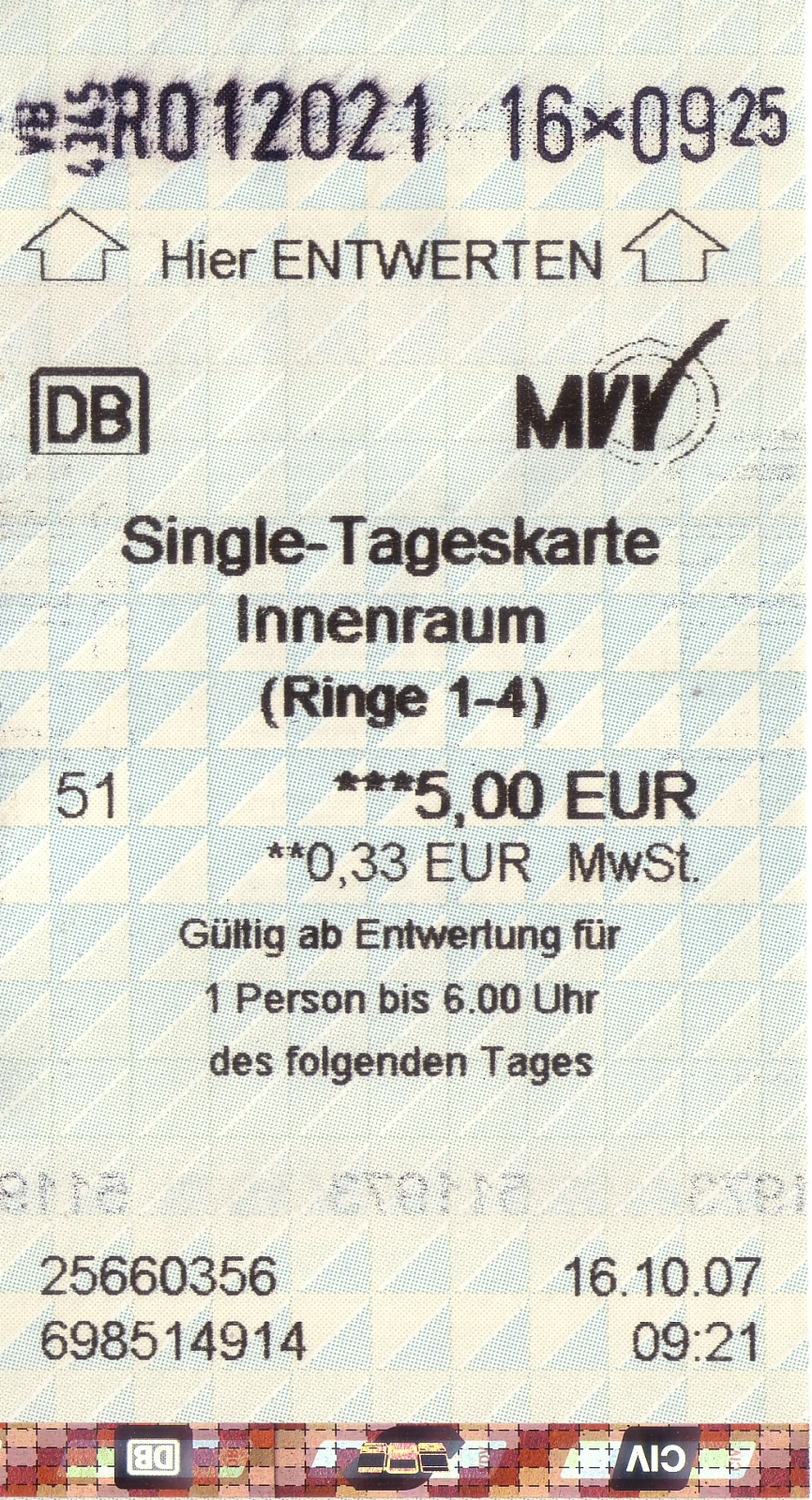 Single tickets munich