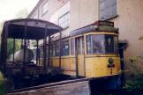 Aarhus railcar 2 on the side track at Lager- und Abstelhalle (1991).