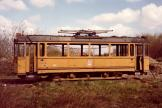 Aarhus railcar 8 near Trige, seen from the side (1982)