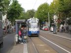 Amsterdam articulated tram 780 on tram line 9 at the stop Amsterdam, Artis (2009).