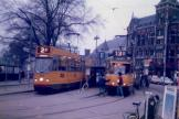 Amsterdam articulated tram 784 on tram line 2 at the terminus Centraal Station (1987).