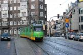 Amsterdam articulated tram 802 on Poznań tram line 9 in the square Pl. Wiosny Ludow (2009)