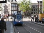 Amsterdam articulated tram 804 on tram line 14 at the stop Westermarkt (2009).