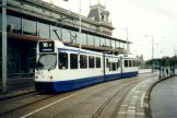 Amsterdam articulated tram 834 on tram line 16 at the stop Museumplein (2002).