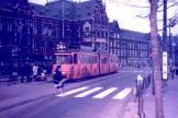 Amsterdam articulated tram 867 on tram line 24 at the terminus Centraal Station (1987).