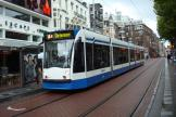 Amsterdam low-floor articulated tram 2087 on tram line 14 at the stop Rembrandtplein (2011).