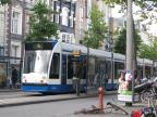 Amsterdam low-floor articulated tram 2089 on tram line 14 at the stop Artis (2009).