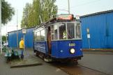 Amsterdam railcar 330 on museum line 30 at the stop remise Karperweg (2011).