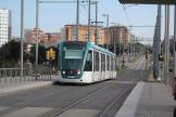 Barcelona low-floor articulated tram 03 on tram line T6 on the way to Glóries (2012)