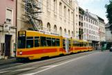 Basel articulated tram 240 on tram line 10 at the stop Theater (2003)