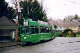 Basel articulated tram 655 on tram line 8 at the terminus Neuweilerstrasse (2006).
