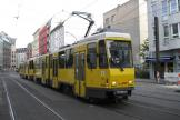 Berlin articulated tram 6034 on fast line M4 at the terminus S-Bhf. Hackescher Markt (2012).