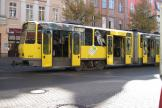 Berlin articulated tram 6142 on Bahnhofstrasse, Köpenick (2012).