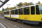 Berlin articulated tram 7031 at the stop S+U Bahnhof Frankfurter Allé (2012).