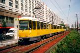 Berlin fast line M4 at the stop Spandauer Straße/Marienkirche (2001).