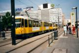 Berlin fast line M5 at the stop Alexanderplatz (2001).