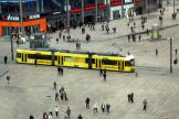Berlin fast line M5 in the square Alexanderplatz (2010).