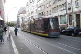 Berlin low-floor articulated tram 1098 on fast line M1 on Rosenthaler Straße (2012).