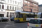 Berlin low-floor articulated tram 2013 on tram line 12 on Rosenthaler Straße (2012).