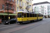 Berlin tram line 21 at the stop Niederbarnimstraße (2010).