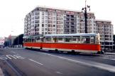Berlin tram line 46 on the bridge Weidendammer Brücke (1991).