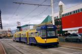 Blackpool tram line T at the stop Central Pier (2006)