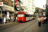 Bremen articulated tram 3536 on tram line 2 at the stop Am Brill (2000).