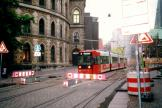 Bremen low-floor articulated tram 3020 on tram line 3 in the square Am Dom (2002).