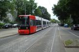 Bremen low-floor articulated tram 3038 on tram line 8 at the stop Busestraße (2009).