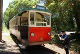 Brisbane railcar 180 on Sydney museum line Sydney Tramway Museum at the terminus Royal National Park Station (2015)