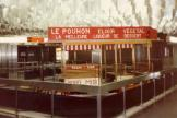 Brussels horse tram at the subway station De Brouckere (1981).