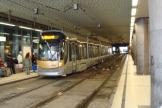 Brussels low-floor articulated tram 3026 at the stop Gade du Midi / Zuidstation (2008).