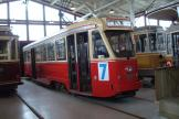 Brussels railcar 3060 inside the depot Gl. Valby remise (2015).