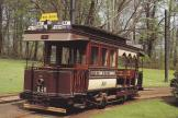 """Brussels railcar 346 """"California"""" on museum line Brussels Tourist Tramway at the terminus Tervuren"""