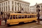 Brussels railcar 7053 on tram line 8 in the square Koningplein (1981).