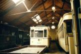 Brussels railcar 9537 inside the depot Tramsite Schepdaal - Dilbeek (2002)