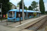 Chemnitz low-floor articulated tram 904 on tram line 5 at the terminus Gablenz (2008)