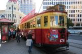 Christchurch railcar 178 on tourist line Christchurch Tramway at the stop Cathedral Junction (2011)