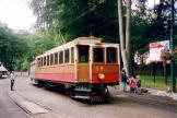 Douglas, Isle of Man railcar 19 on tram line Manx Electric Railway at the stop Laxey (2006)