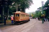 Douglas, Isle of Man railcar 7 on tram line Manx Electric Railway at the stop Laxey (2006)