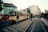 Düsseldorf articulated tram 2965 on tram line 704 at the stop Worringer Platz (2000)