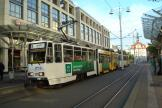 Gera articulated tram 351 on tram line 3 at the stop Heinrichstraße (2014)