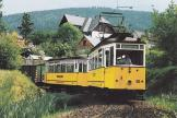 Gotha museum tram 56 at the terminus Tabarz (1992)