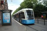 Gothenburg low-floor articulated tram 431 on tram line 11 at the stop Ullevi Norra (2009)
