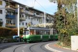 Graz articulated tram 507 on extra line 6 at the terminus St. Peter (2008)