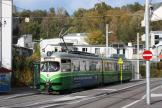 Graz articulated tram 582 on extra line 6 at the terminus St. Peter (2008)
