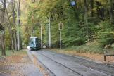 Graz articulated tram 611 on tram line 1 at the stop Kroisbach (2008)