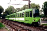 Hannover articulated tram 6136 on tram line 5 at the stop Clausewitzstraße (2000).