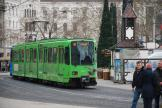 Hannover articulated tram 6195 on tram line 10 in the square Ernst-August-Platz (2013)