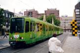 Hannover articulated tram 6196 on tram line 10 at the stop Steintor (2003).